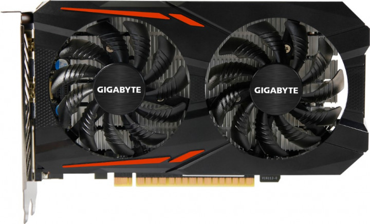 Gigabyte PCI-Ex GeForce GTX 1050 OC 2GB GDDR5 (128bit) (1379/7008) (DVI, HDMI, DisplayPort) (GV-N1050OC-2GD) - изображение 1