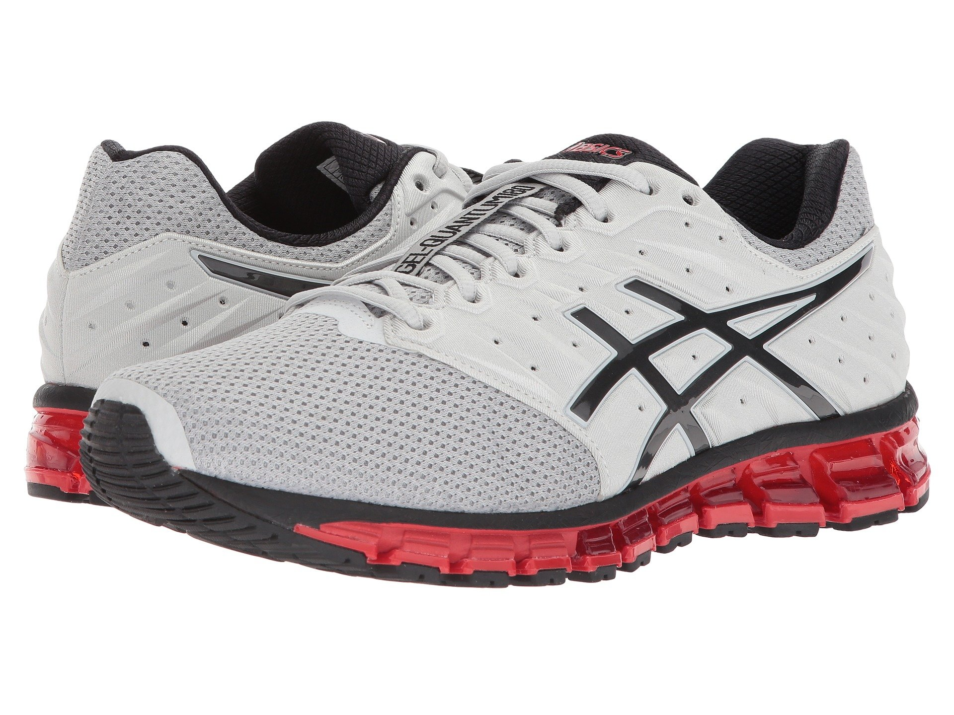 Кроссовки ASICS GEL-Quantum 180 2 MX Glacier Grey/Phantom/Fiery Red, 46  (290 мм) (10083541)