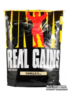 Гейнер Universal Nutrition Real Gains 4.8 кг Vanilla Ice Сream (039442012630)