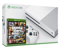 Microsoft Xbox One S 500Gb White + GTA V (русская версия)