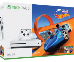 Microsoft Xbox One S 500Gb White + Forza Horizon 3 (русская версия) + Hot Wheels (русская версия)