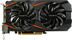 Gigabyte PCI-Ex GeForce GTX 1060 Windforce OC 6GB GDDR5 (192bit) (1556/8008) (2 x DVI, HDMI, DisplayPort) (GV-N1060WF2OC-6GD)