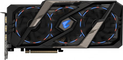 Gigabyte PCI-Ex GeForce RTX 2070 Aorus Xtreme 8GB GDDR6 (256bit) (1815/14142) (Type-C, 3 x HDMI, 3 x Display Port) (GV-N2070AORUS X-8GC)