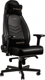 Кресло геймерское NOBLECHAIRS Icon Real Leather Black (GAGC-090)