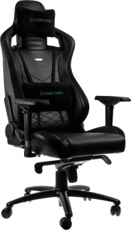 Кресло геймерское NOBLECHAIRS Epic Series Black/Green (GAGC-074)