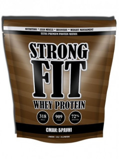 Протеин Strong Fit Whey Protein 909 g /22 servings/ Лесная ягода 909 г