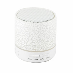 Wesdar Bluetooth Speaker K336 Mini LED Round White (PBS-000002)