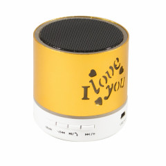 Wiss BO Speaker MIini LED Bluetooth Speaker Gold (PBS-000011)