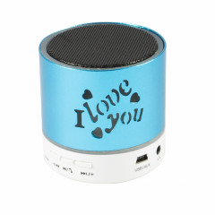Wiss BO Speaker MIini LED Bluetooth Speaker Blue (PBS-000009)