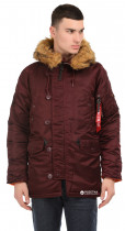 Парка Alpha Industries Slim Fit N-3B Parka M Maroon/Orange