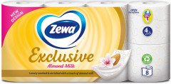 Туалетная бумага Zewa Exclusive Almond Milk 4 слоя 8 рулонов (7322540837933)