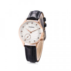 Часы Guanqin Gold-White-Black GS19052 CL (GS19052GWB)