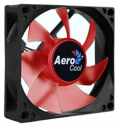 Вентилятор Aerocool Motion 8 Red LED 80мм, 3-pin