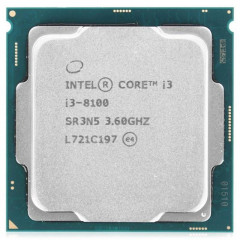 Процессор Intel Core i3 8100 3.6GHz (6MB, Coffee Lake, 65W, S1151) Tray (CM8068403377308)