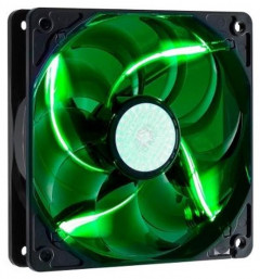 Вентилятор CoolerMaster SickleFlow 120 Green LED (R4-L2R-20AG-R2), 120х120х25 мм, 3pin, черный