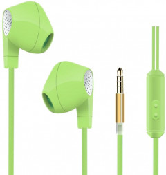 HeyDr W-2 Wired Earphones Green (F_46458)