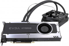 EVGA PCI-Ex GeForce GTX 1070 Hybrid Gaming 8GB GDDR5 (256bit) (1594/8008) (DVI, HDMI, 3 x DisplayPort) (08G-P4-6178-KR)