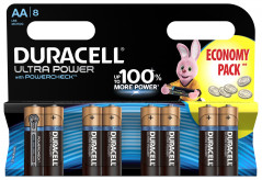 Щелочные батарейки Duracell Ultra Power AA 1.5В LR6 8 шт (5004807)(5000394063051)