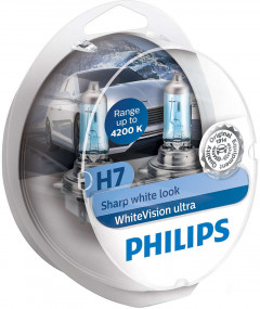Автолампы Philips WhiteVision Ultra +60% H7 (12972WVUSM)