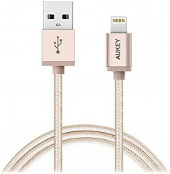 Кабель AUKEY CB-D16 Apple MFi Lightning - USB 1.2 м Gold (LLTS144483)