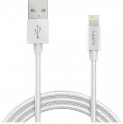 Кабель AUKEY CB-D16 Apple MFi Lightning - USB 1.2 м White (LLTS144484)