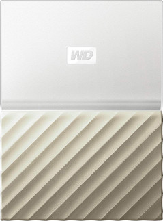 Жесткий диск Western Digital My Passport Ultra 3TB WDBFKT0030BGD-WESN 2.5 USB 3.0 External White-Gold