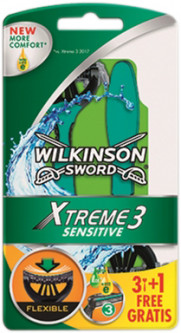 Одноразовые станки Wilkinson Sword Xtreme3 Sensitive 3 + 1 шт (4027800710409)