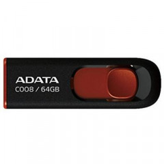 USB флеш накопитель A-DATA 64GB C008 Black+Red USB 2.0 (AC008-64G-RKD)