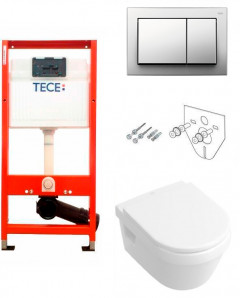 Инсталляция TECE base 9400006 4в1 с панелью 9240701+ унитаз V&B Omnia Architectura 5684R001 DirectFlush с сиденьем Soft Close Quick Release 98M9C101