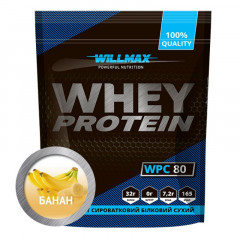 Протеин Willmax Whey Protein 80% Банан 1000 г