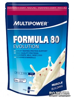 Протеин Multipower Formula 80 Evolution 510 г Панна-Котта Малина (4006643108147)