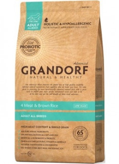 Сухой корм Grandorf Living Probiotics 4 Meat & Brown Rice All breeds 12 кг