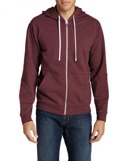 Мужская флисовая кофта Eddie Bauer Men's Camp Fleece Hoodie HTR BURGUNDY (XL)
