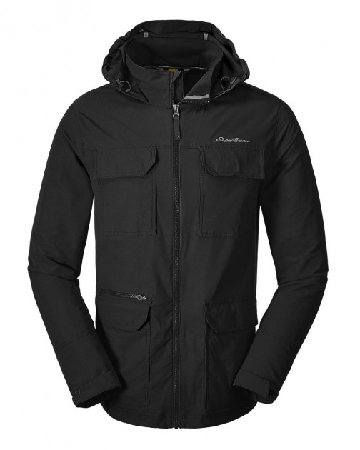 Мембранная куртка мужская Eddie Bauer Mens Atlas Stretch Hooded Jacket Black (M)