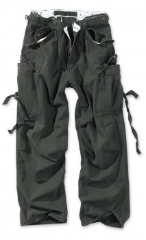 Чоловічі карго штани Surplus Vintage Fatigue Trousers Schwarz Gewas