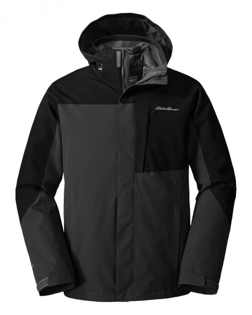 Мужской пуховик Eddie Bauer Men All Mountain 3-in-1 CARBON (M) - изображение 1