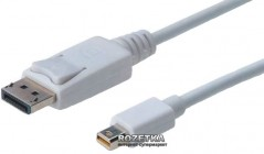 Кабель Digitus mini DisplayPort - DisplayPort AM/AM 2 м White (AK-340102-020-W)