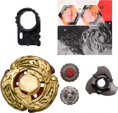 Игровой набор H-Toys Beyblade Metal Fusion 4D L-Drago Destructor DF105LRF Gold Armored Version Волчок с пусковым устройством (SKU-TTBB106B) (691071323917)