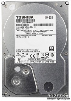 Жесткий диск Toshiba Video Stream 3TB 5900rpm 32MB DT01ABA300V 3.5 SATA III