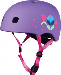 Шлем Micro Mobility System Micro V2 размер S Floral Purple (AC2084) (7640170575033)