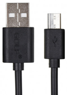 Кабель GOLF GC-01M USB - MicroUSB 2 м Black (FSH50004)