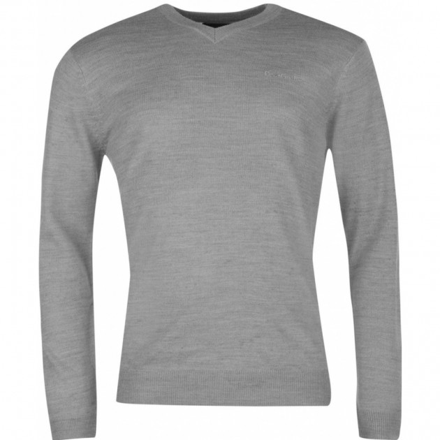 Джемпер Pierre Cardin V Neck Knit Sn63 Grey Marl XXL серый (559653-R)