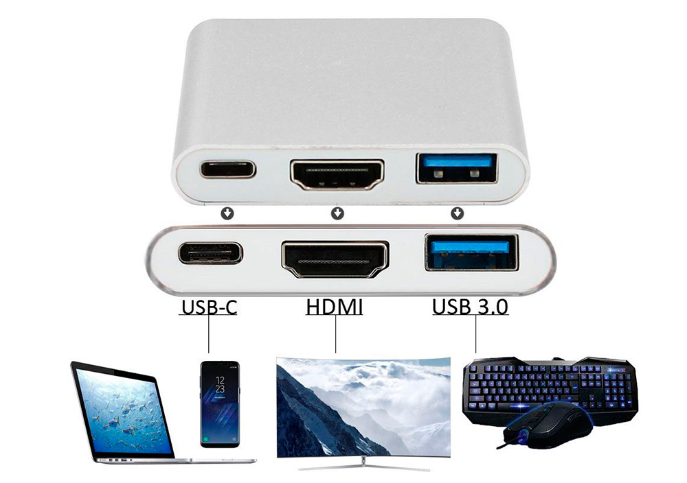 Protech Multiport Adapter USB 3.1 Type C