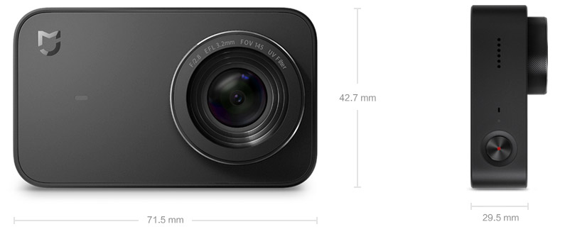 Видеокамера Xiaomi Mijia 4K Action Camera YDXJ01FM Black (ZRM4028CN)