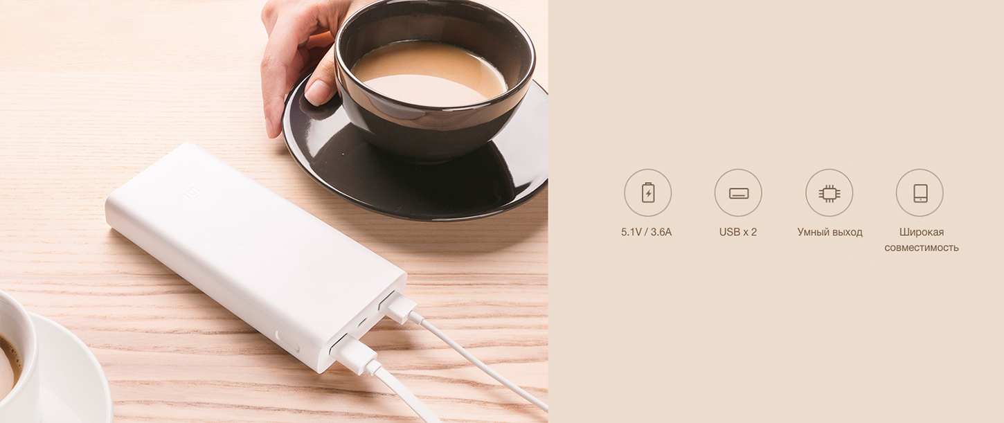 Xiaomi Mi Power Bank 2C 20000 mAh QC3.0