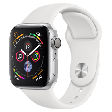 Apple Watch Series 4 GPS 40mm Silver Aluminum Case with White Sport Band  (MU642) 9b1d5b16e71ae