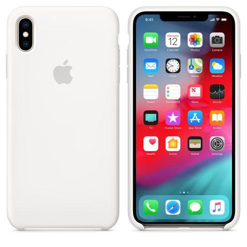 Чехол Quri Silicone Case для iPhone XS Max White OEM