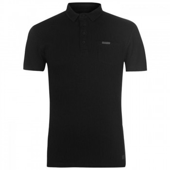 Поло Firetrap Rib Polo Black, M (10074173)
