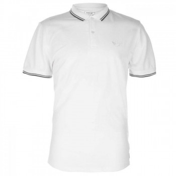 Поло Firetrap Lazer Slim Fit Polo White, XL (10073919)