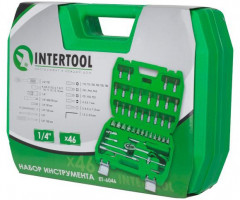 "Набор инструментов Intertool 1/4"", 46 предметов (ET-6046)"